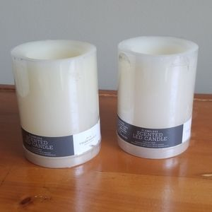 Set of 2 Flamless Candles